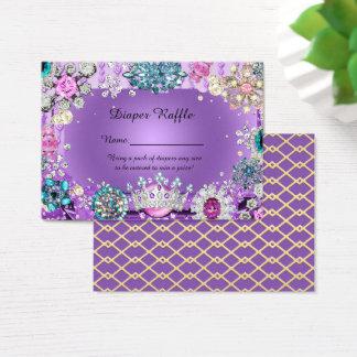 Cartão De Visitas Princesa pequena príncipe Fralda Raffle Bilhete,