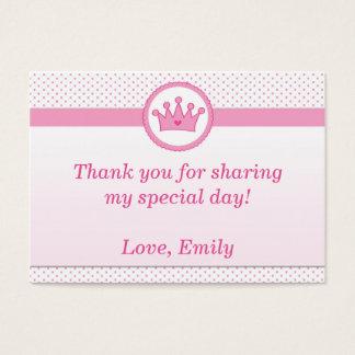 Cartão De Visitas Princesa Presente Favor Rotulagem Agradecimento