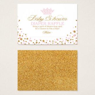 Cartão De Visitas Princesa real Fralda Raffle Bilhete da tiara do