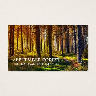 Cartão De Visitas Pro fotografia (floresta)