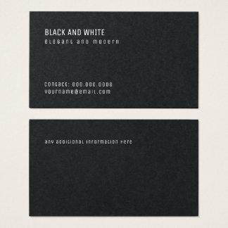 Cartão De Visitas pro superior preto minimalista