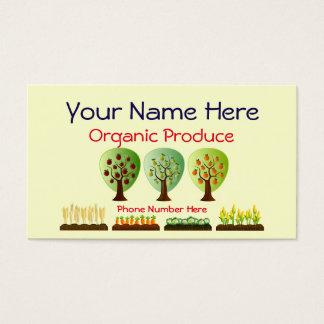 Cartão De Visitas Produto de cultivo orgânico personalizado