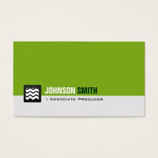 Cartão De Visitas Produtor do associado - branco verde orgânico