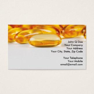 Cartão De Visitas Produtos das vitaminas e da saúde