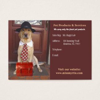 Cartão De Visitas Produtos & serviços do animal de estimação