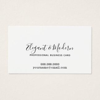 Cartão De Visitas prof. elegante e moderno da caligrafia da escrita