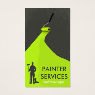 Cartão De Visitas Professional Painter Business Card