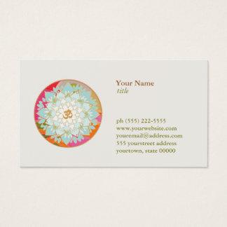 Cartão De Visitas Professor da meditação da ioga do símbolo de OM da