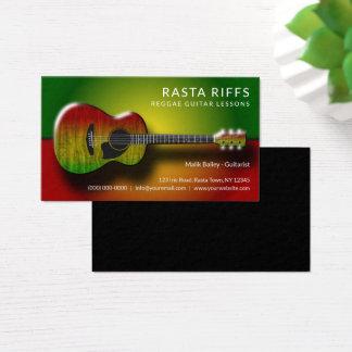Cartão De Visitas Professor de música das lições da guitarra dos