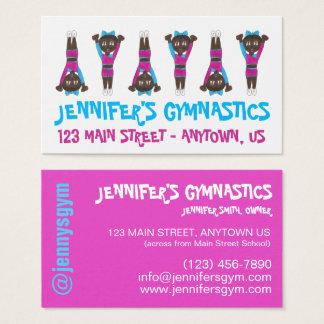 Cartão De Visitas Professor do estúdio da escola de dança do Gym da