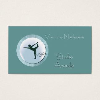 Cartão De Visitas Professor do estúdio da ioga