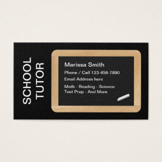 Cartão De Visitas Professor do tutoria da escola