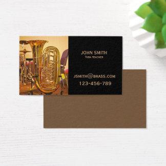 Cartão De Visitas Professor ou tutor de bronze da tuba