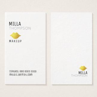 Cartão De Visitas profissionais verticais simples do salão de beleza