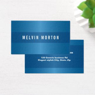 Cartão De Visitas Profissional à moda azul genérico moderno