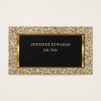 Cartão De Visitas Profissional à moda do brilho dourado moderno do