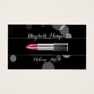 Cartão De Visitas Profissional à moda moderno - Composição-Batom