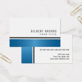 Cartão De Visitas Profissional à moda moderno da beira azul do