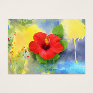 Cartão De Visitas Profissional abstrato da flor do hibiscus