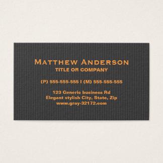 Cartão De Visitas Profissional alaranjado e cinzento à moda moderno