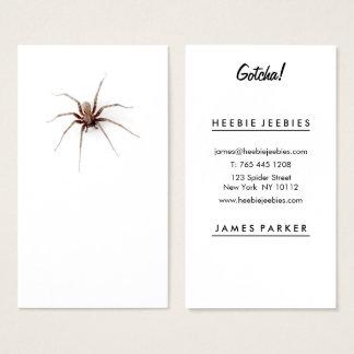 Cartão De Visitas Profissional branco da planície engraçada da