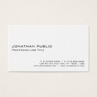 Cartão De Visitas Profissional branco elegante moderno de