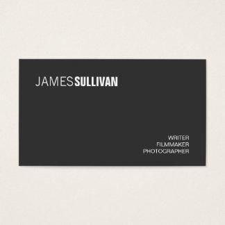 Cartão De Visitas Profissional criativo moderno preto simples