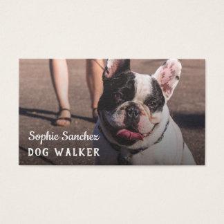 Cartão De Visitas Profissional da foto do baby-sitter do animal de