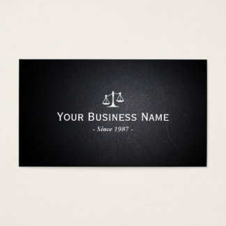 Cartão De Visitas Profissional de couro escuro do advogado do