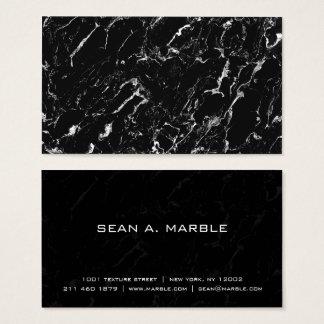 Cartão De Visitas Profissional de mármore moderno legal do preto