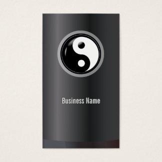 Cartão De Visitas Profissional de Yin Yang das artes marciais