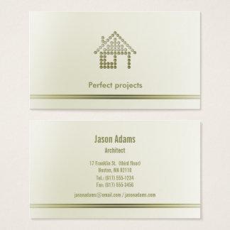 Cartão De Visitas Profissional do arquiteto |