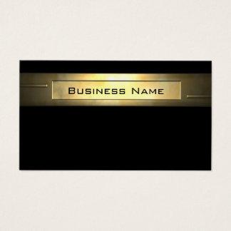 Cartão De Visitas Profissional do negócio 2 do ouro