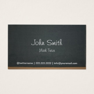 Cartão De Visitas Profissional do quadro do tutor da matemática
