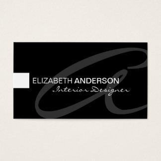 Cartão De Visitas Profissional elegante clássico minimalista moderno