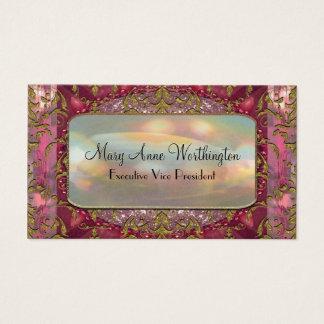 Cartão De Visitas Profissional elegante da pétala de Delancey