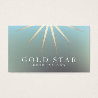 Cartão De Visitas Profissional elegante do logotipo da estrela do