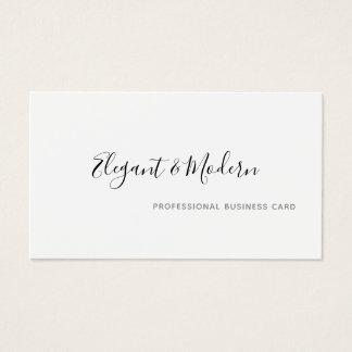 Cartão De Visitas profissional elegante e moderno da escrita