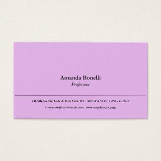 Cartão De Visitas Profissional elegante minimalista liso cor-de-rosa