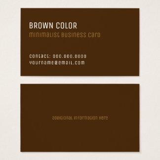 Cartão De Visitas profissional elegante minimalista marrom