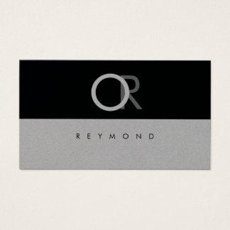Cartão De Visitas profissional elegante, moderno & à moda