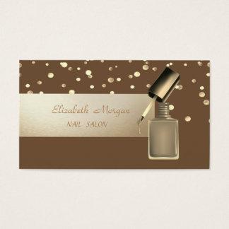 Cartão De Visitas Profissional elegante, moderno, confetes, verniz