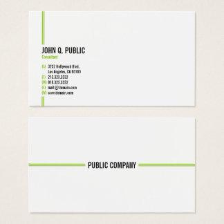Cartão De Visitas Profissional elegante moderno minimalista