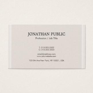 Cartão De Visitas Profissional elegante na moda de Minimalistic das