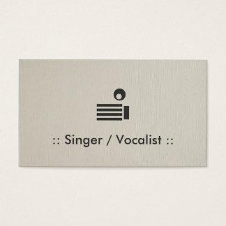 Cartão De Visitas Profissional elegante simples do cantor/vocalista