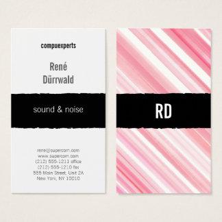 Cartão De Visitas profissional gráfico cor-de-rosa vermelho