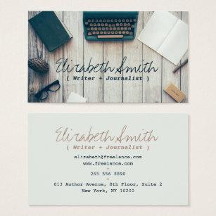Cartão De Visitas Profissional legal da máquina de escrever do