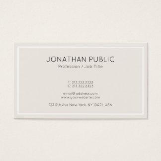 Cartão De Visitas Profissional limpo do design da cor elegante na