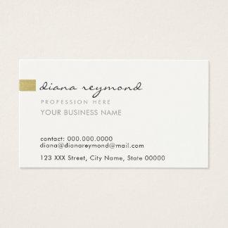 Cartão De Visitas profissional liso & básico agradável