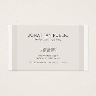 Cartão De Visitas Profissional minimalista das cores elegantes na